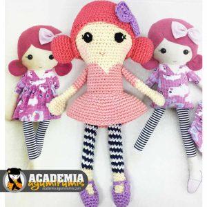 Muñeca cuadrada Amigurumi Curso 13